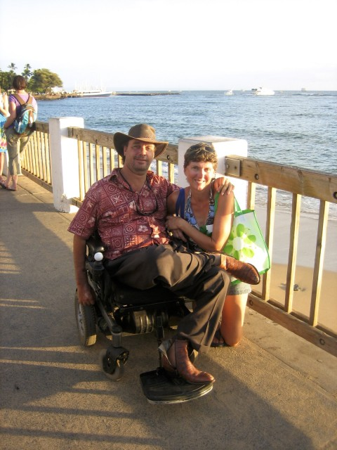 Bruce and Amy Bernhardt in Lahaina on the island of Maui, Hawaii